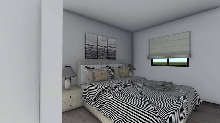 Modelo   T2 123m²: Casas  por Discovercasa   Casas de Madeira & Modulares