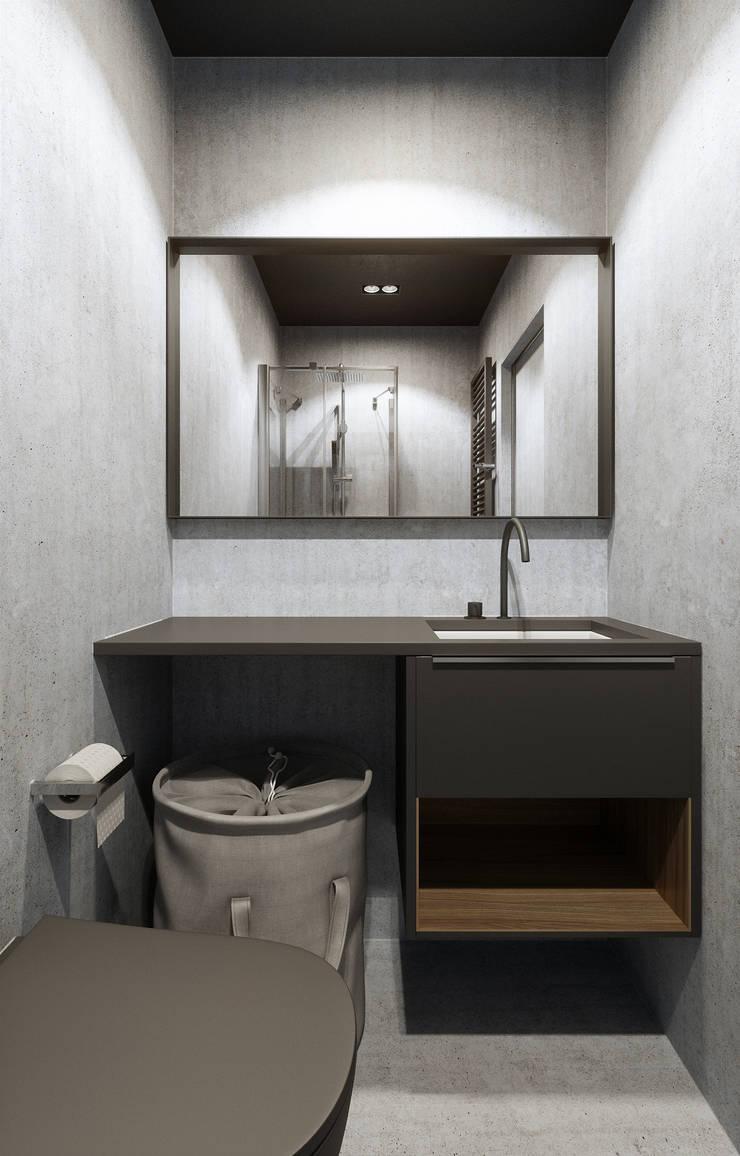 MONKEYS IN THE CITY 2: Ванные комнаты в . Автор – ANARCHY DESIGN, Минимализм