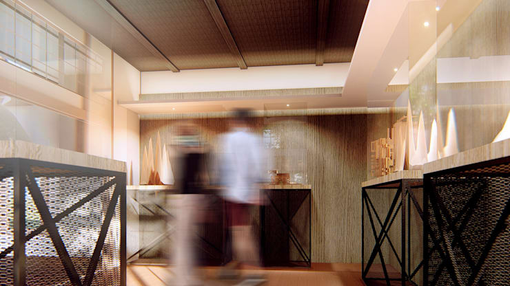 Ingresso & Corridoio in stile  di Redblade Design / 刀赤空間設計工作室, Moderno Legno Effetto legno