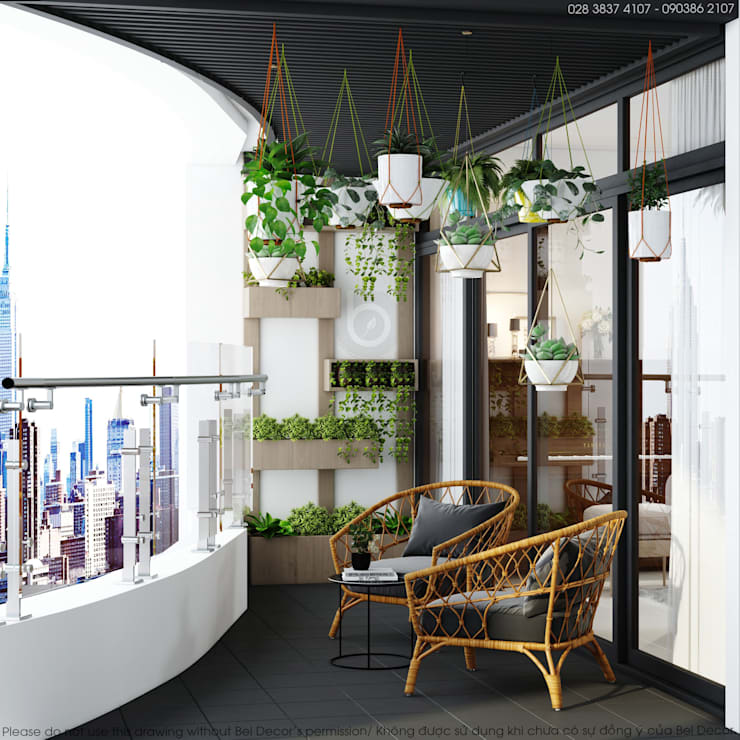 Thiết kế nội thất Penthouse HO1852:   by Bel Decor
