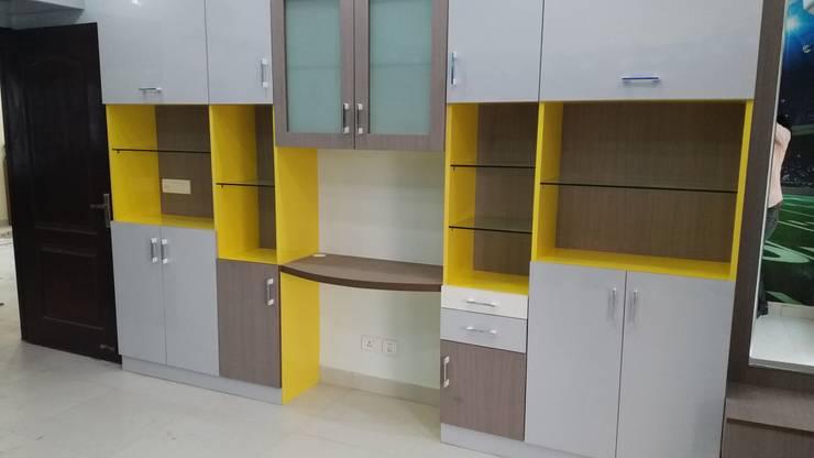 Multi purpose storage for kids room : modern Bedroom by Design Kreations