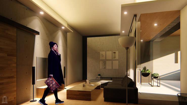 樹林。都更案住商混合示意設計:   by Redblade Design / 刀赤空間設計工作室