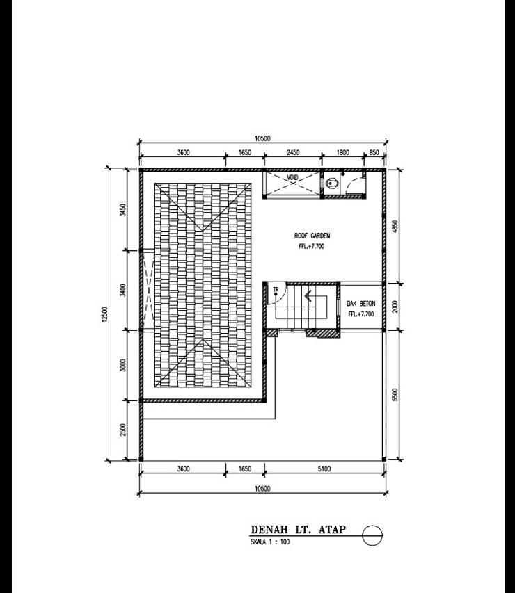 RUMAH TINGGAL MINIMALIS DI KLENDER:   by Amirul Design & Build