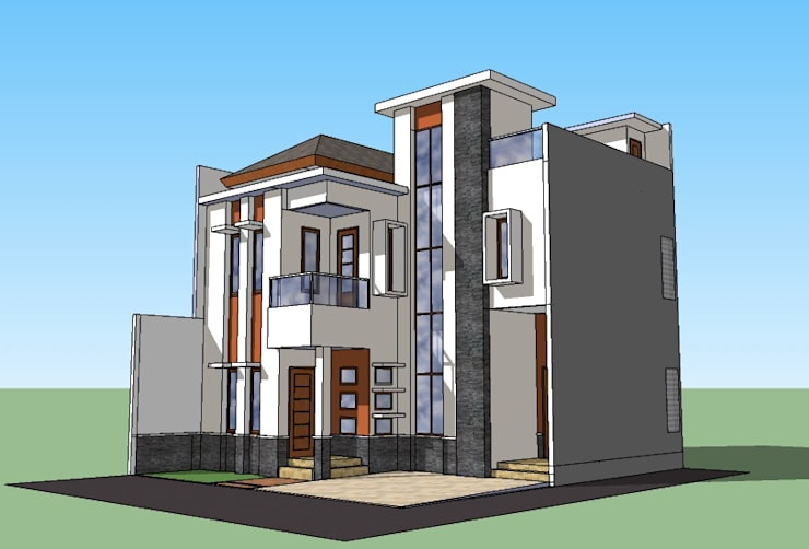 Perspektif Sudut:   by Amirul Design & Build
