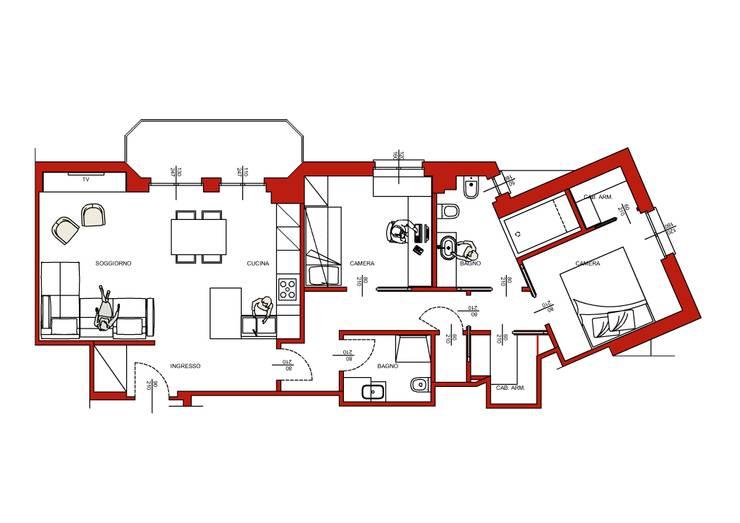 Progetto realizzato di Architrek Moderno