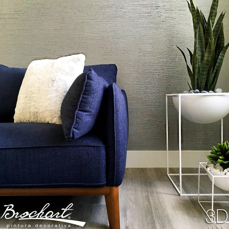 Técnica Estriado ©: Paredes y pisos de estilo moderno por Brochart pintura decorativa
