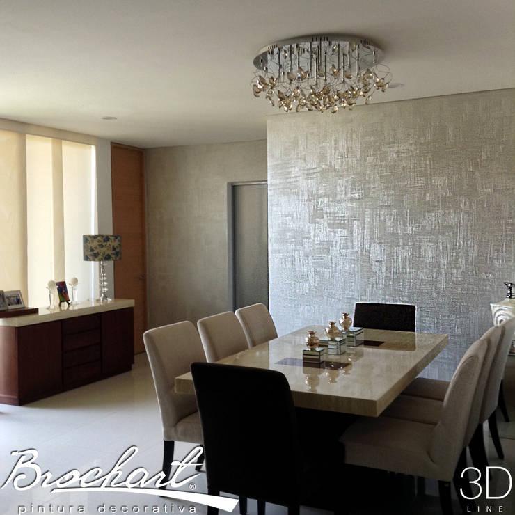 Técnica Lino 3D ©: Paredes y pisos de estilo minimalista por Brochart pintura decorativa