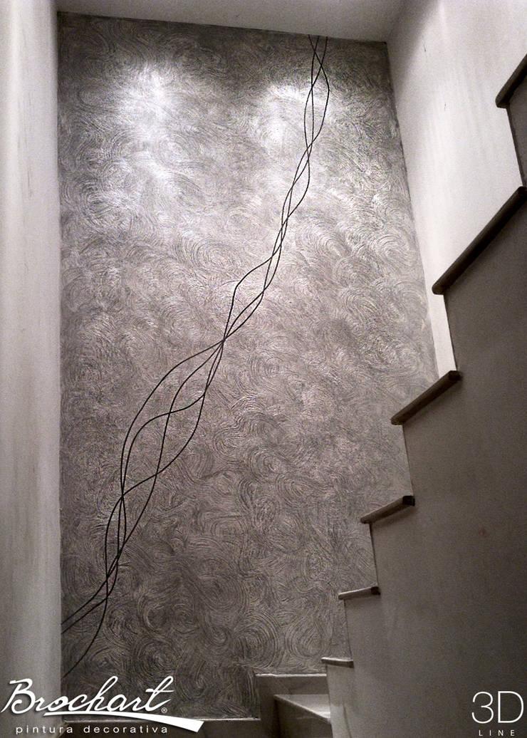 Técnica Lino Enredado ©: Paredes y pisos de estilo moderno por Brochart pintura decorativa