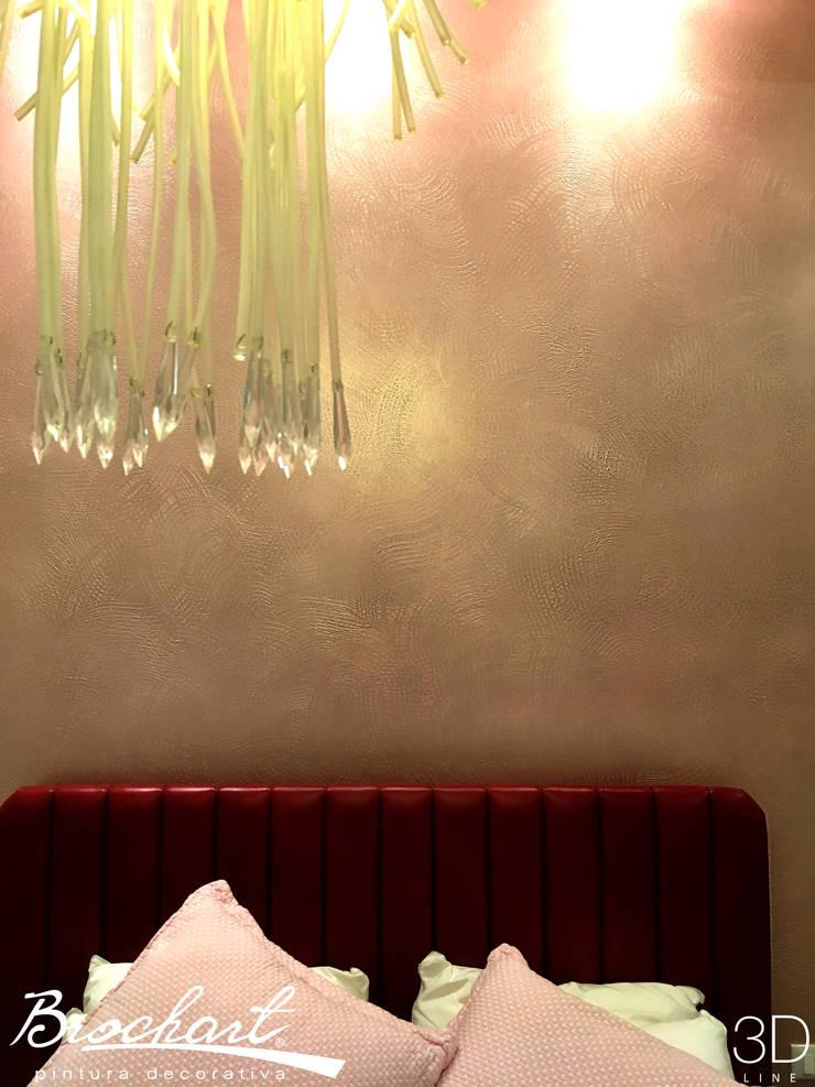 Técnica Malla ©: Paredes y pisos de estilo moderno por Brochart pintura decorativa