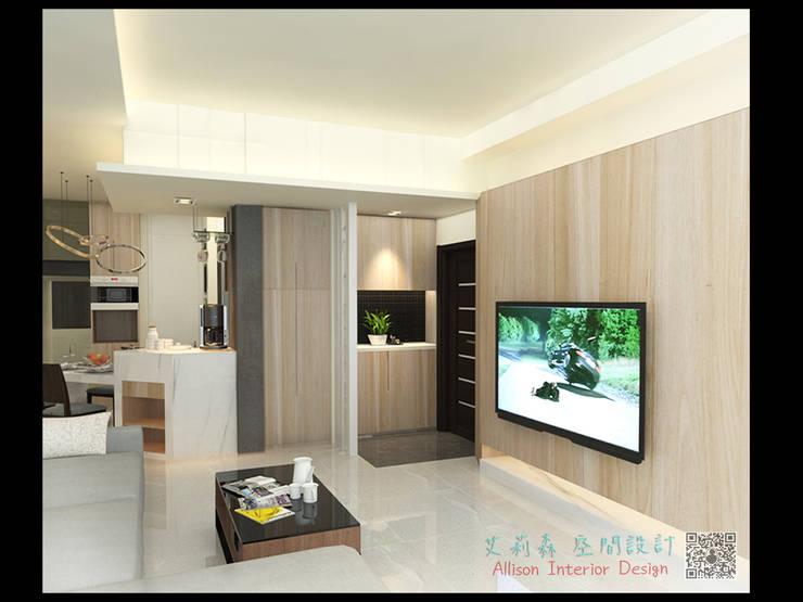 現代感設計:  走廊 & 玄關 by 艾莉森 空間設計