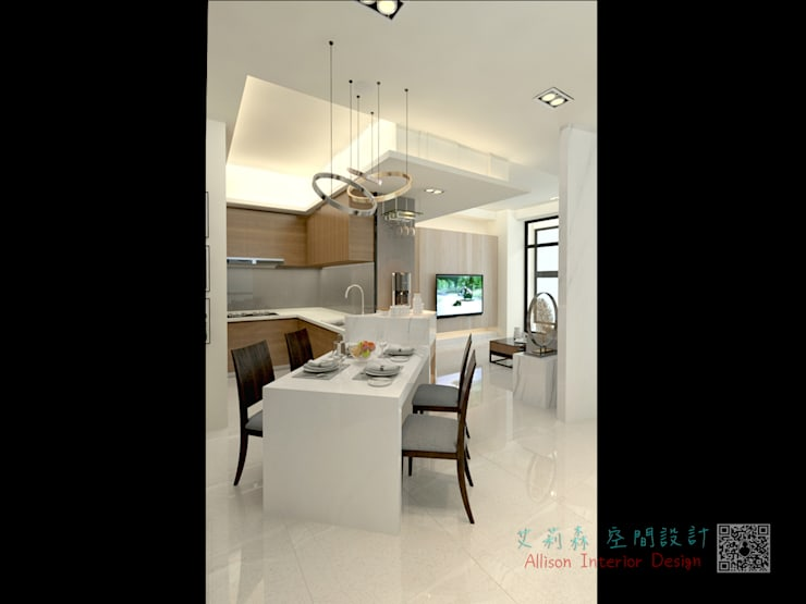 現代感設計:  系統廚具 by 艾莉森 空間設計