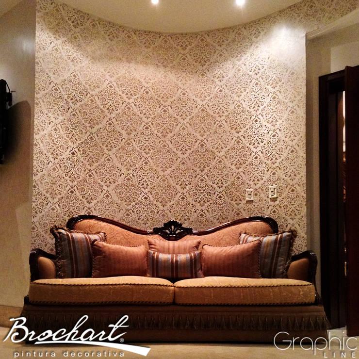 Técnica Estuco Clásico ©: Paredes y pisos de estilo  por Brochart pintura decorativa