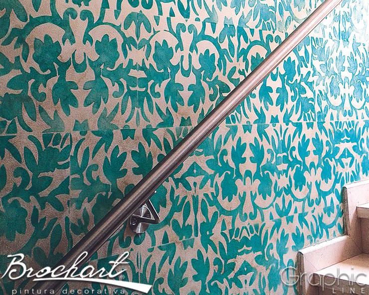 Técnica Estuvo Moderno ©: Paredes y pisos de estilo  por Brochart pintura decorativa