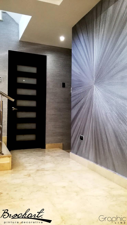 Técnica Flor ©: Paredes y pisos de estilo  por Brochart pintura decorativa