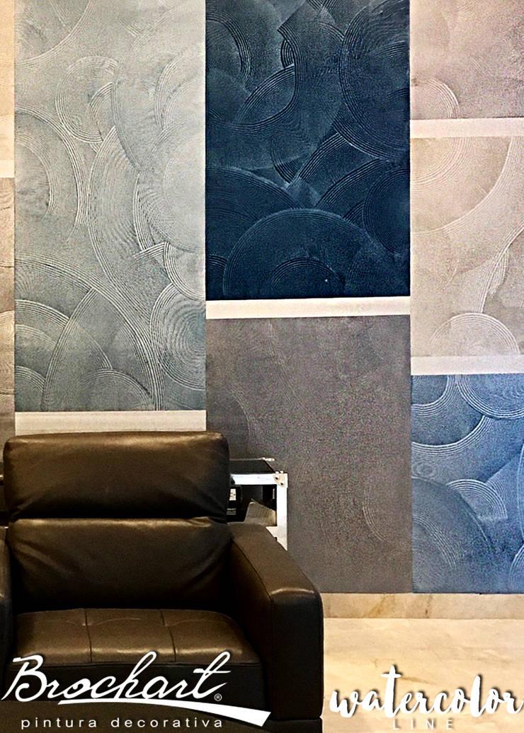 Técnica Acetato ©: Paredes y pisos de estilo  por Brochart pintura decorativa