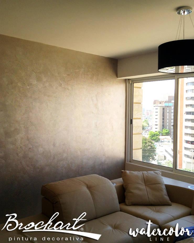 Técnica Esfumado ©: Paredes y pisos de estilo  por Brochart pintura decorativa