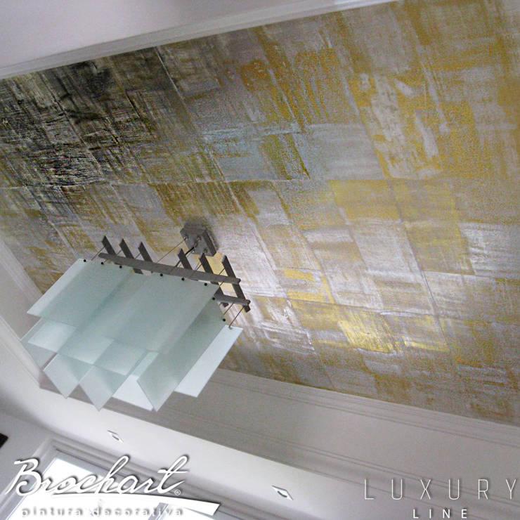Técnica Hojillado Ajedrez ©: Paredes y pisos de estilo  por Brochart pintura decorativa