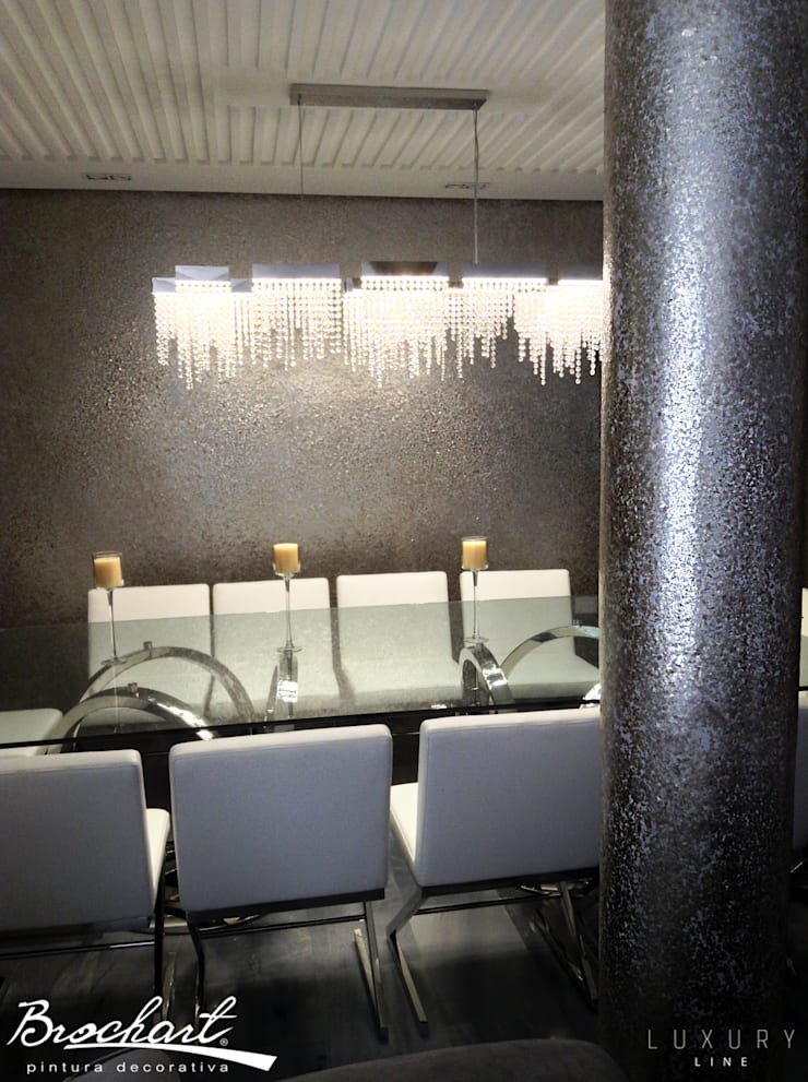 Técnica Hojuelas de Nácar ©: Paredes y pisos de estilo  por Brochart pintura decorativa