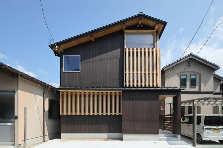 房子 by 芦田成人建築設計事務所, 田園風 木頭 Wood effect
