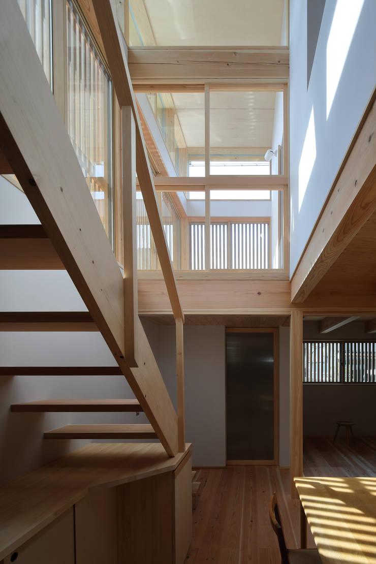 樓梯 by 芦田成人建築設計事務所, 田園風