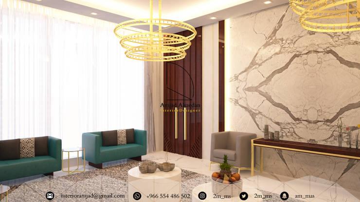 مجلس ضيوف - Guests room:  غرفة المعيشة تنفيذ Amjad Alseaidan