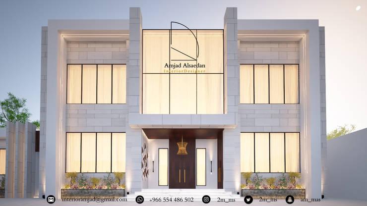 واجهة فيلا - Villa Facade:   تنفيذ Amjad Alseaidan
