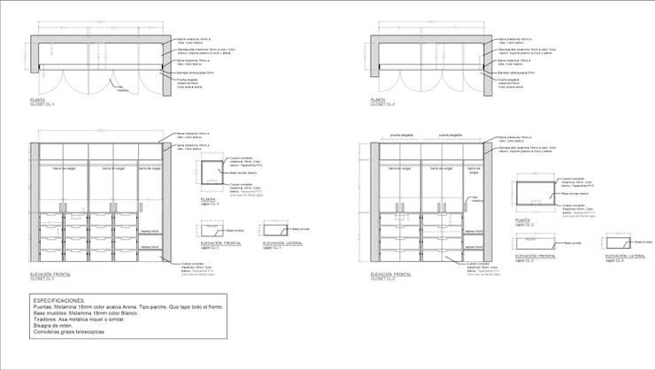 Plano closets :  de estilo  por Lagom Studio