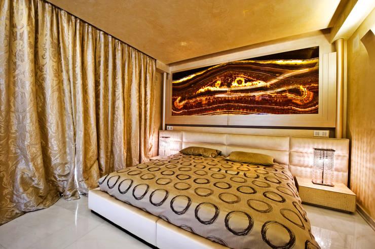 غرفة نوم تنفيذ Studio Merlini Architectural Concept