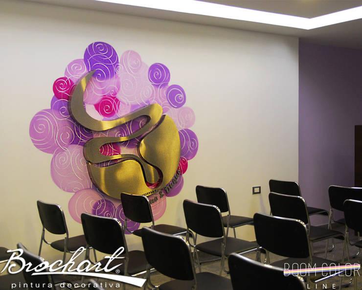 Técnica Arrobas ©: Paredes y pisos de estilo  por Brochart pintura decorativa