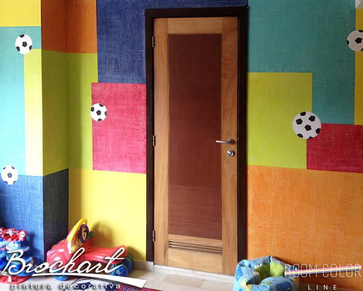 Técnica Composición de Cuadros ©: Paredes y pisos de estilo  por Brochart pintura decorativa