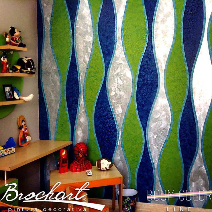 Técnica Corteza 3D ©: Paredes y pisos de estilo  por Brochart pintura decorativa
