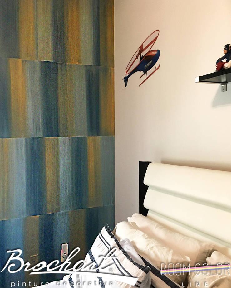 Técnica Fragmento Retro ©: Paredes y pisos de estilo  por Brochart pintura decorativa