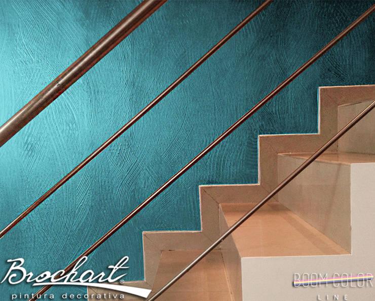 Técnica Infinito ©: Paredes y pisos de estilo  por Brochart pintura decorativa