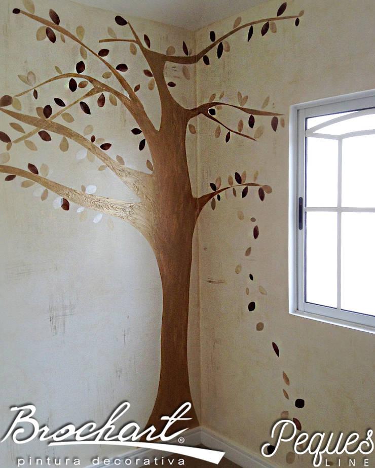 Técnica Árbol de los Sueños ©: Paredes y pisos de estilo  por Brochart pintura decorativa