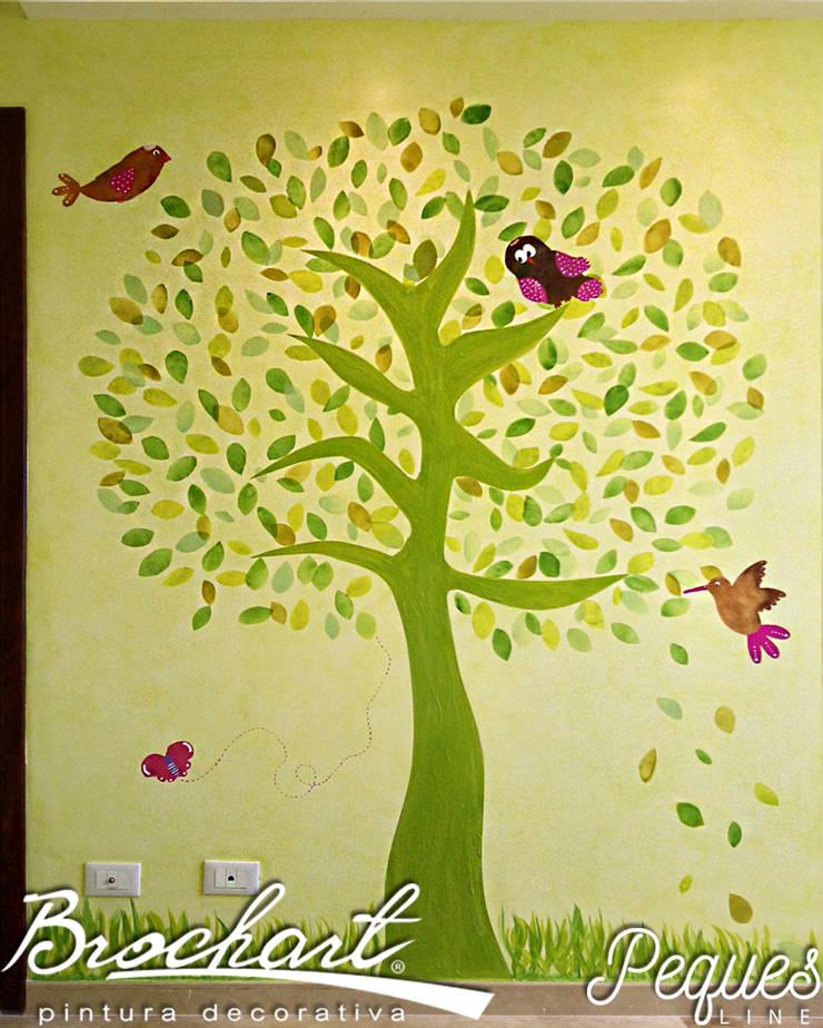 Técnica Árbol Manzano ©: Paredes y pisos de estilo  por Brochart pintura decorativa