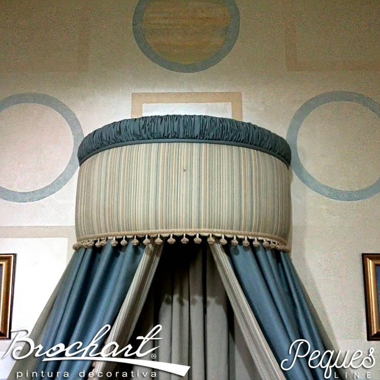 Técnica Composición de Círculos y Cuadros ©: Paredes y pisos de estilo  por Brochart pintura decorativa