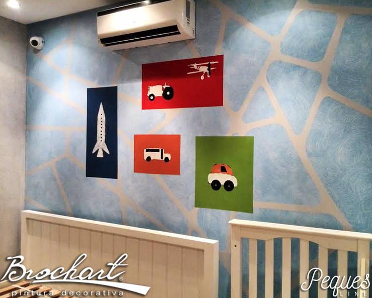 Técnica Mapa de Peques ©: Paredes y pisos de estilo  por Brochart pintura decorativa