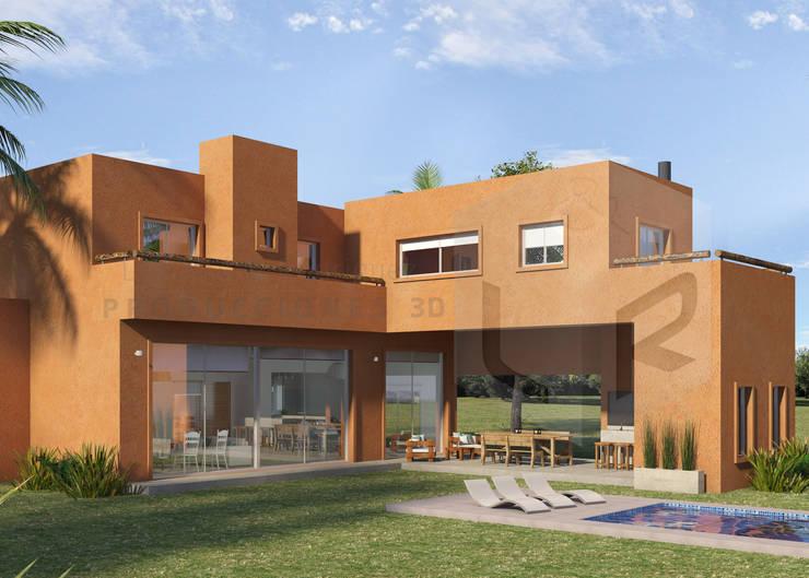 Render Exterior Contrafrente Diurno:  de estilo  por Laudato & Rodriguez | Renders 3D,