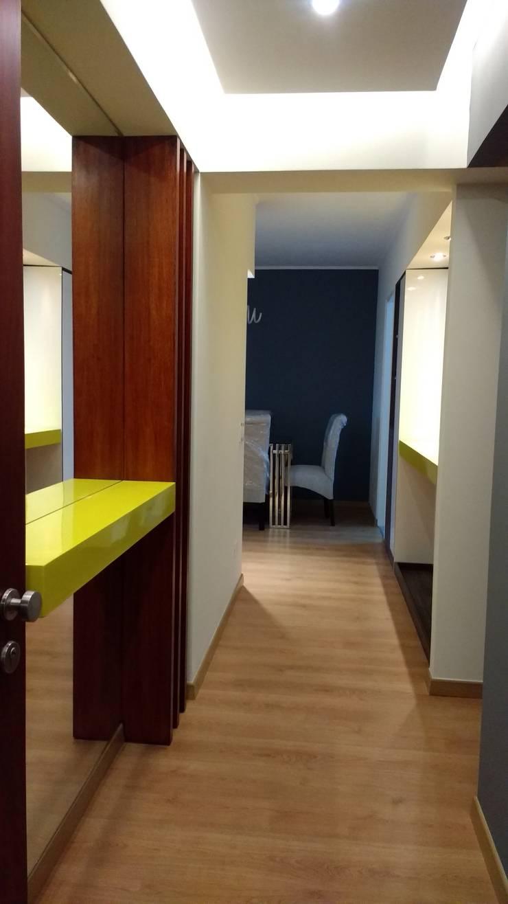 Pasadizo: Salas / recibidores de estilo  por ABC construye,