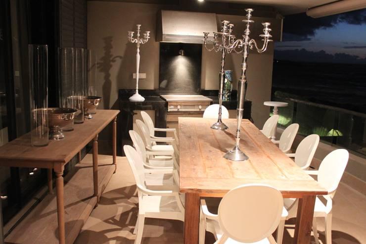Residential Clifton:  Patios by Lean van der Merwe Interiors, Eclectic