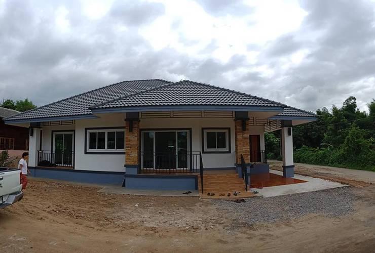 ภาพบ้านเมื่อก่อสร้างเสร็จ:   by แบบบ้านออกแบบบ้านเชียงใหม่
