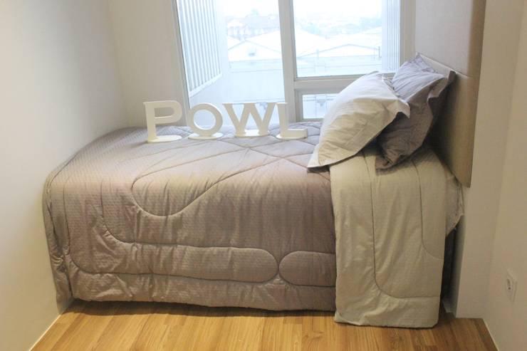 Apartemen Landmark II - 2 Bedroom (Design II):  Kamar Tidur by POWL Studio