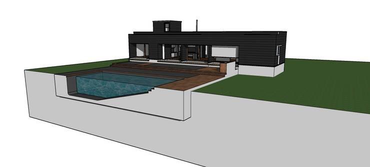 Vivienda Prefabricada en Panel Sip: Casas de estilo  por Riveros Bassaletti Arquitecto+asociados