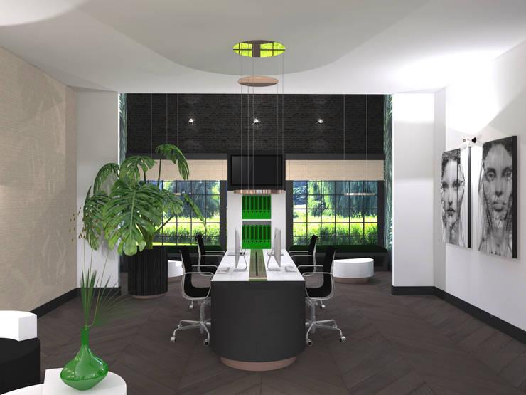 Bureau:  Kantoor- & winkelruimten door VAN VEEN INTERIOR DESIGN, Modern Hout Hout