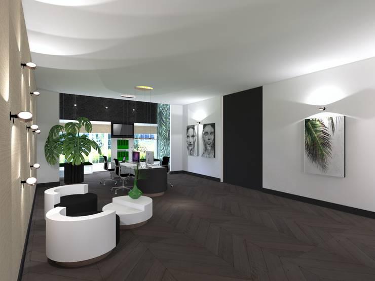 Kantoor:  Kantoor- & winkelruimten door VAN VEEN INTERIOR DESIGN, Modern Hout Hout