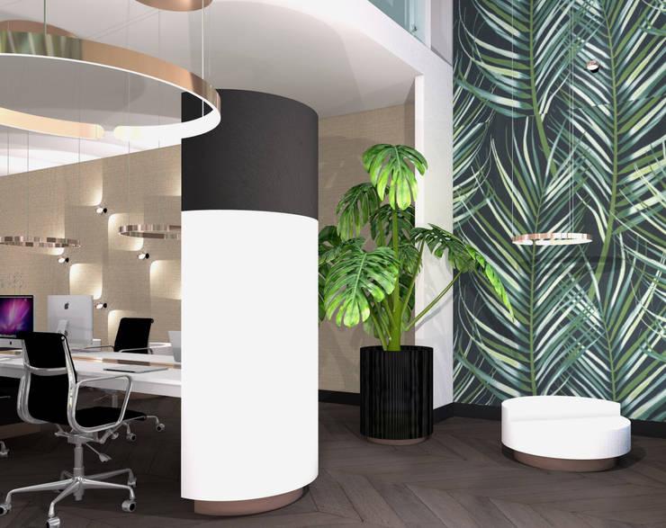 Seperate zitruimte:  Kantoor- & winkelruimten door VAN VEEN INTERIOR DESIGN, Modern Hout Hout