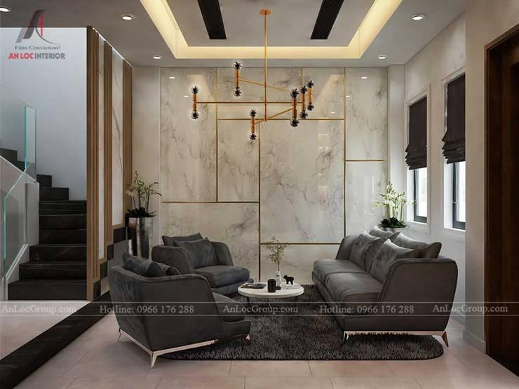 THIẾT KẾ NỘI THẤT BIỆT THỰ LAKEVIEW CITY 110M2 NHÀ CHỊ LINH:  Phòng khách by Nội Thất An Lộc