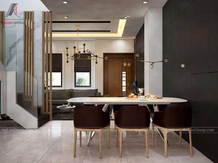 THIẾT KẾ NỘI THẤT BIỆT THỰ LAKEVIEW CITY 110M2 NHÀ CHỊ LINH:  Phòng ăn by Nội Thất An Lộc
