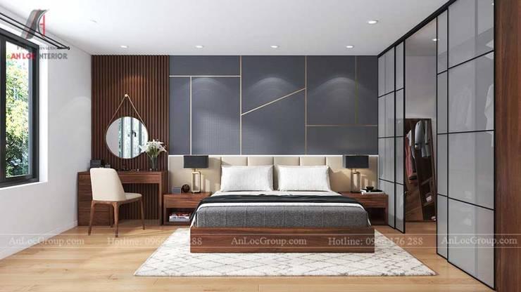 NỘI THẤT NHÀ PHỐ ĐẸP TẠI HẢI PHÒNG NHÀ ANH NGUYÊN:  Phòng ngủ by Nội Thất An Lộc