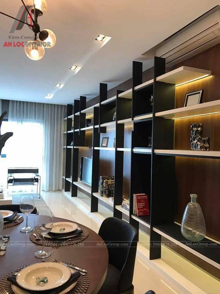 THI CÔNG NỘI THẤT CHUNG CƯ TẠI VINCITY GIA LÂM, HÀ NỘI:  Phòng ăn by Nội Thất An Lộc